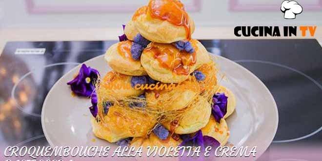 Bake Off Italia 3 - ricetta Croquembouche alla violetta e crema pasticcera di Ilaria