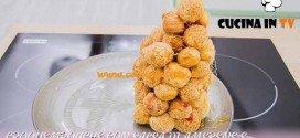 Bake Off Italia 3 - ricetta Croquembouche con salsa di amerene e caramello di Tatsiana