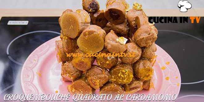 Bake Off Italia 3 - ricetta Croquembouche quadrato al cardamomo di Pietro