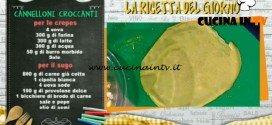 La Prova del Cuoco - Cannelloni croccanti ricetta Natalia Cattelani