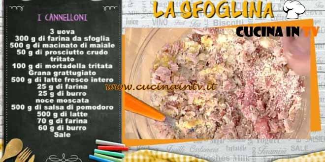 La Prova del Cuoco - Cannelloni ricetta Alessandra Spisni