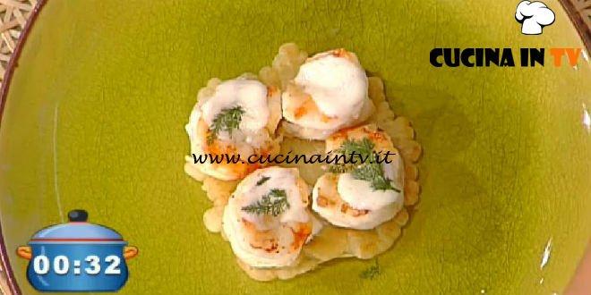 La Prova del Cuoco - Frittella di riso con gamberi caramellati ricetta Hirohiko Shoda