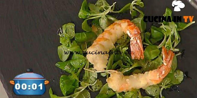 La Prova del Cuoco - ricetta Gamberi in tempura con salsa allo yogurt