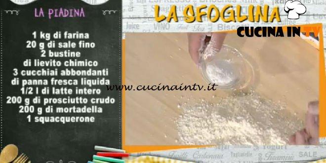 La Prova del Cuoco - La piadina ricetta Alessandra Spisni