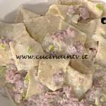La Prova del Cuoco - ricetta Maltagliati integrali con porri e pasta di salame