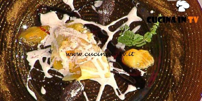 La Prova del Cuoco - Strudel di cachi speziato con salsa alla cannella ricetta Ambra Romani
