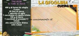 La Prova del Cuoco - Taglioline ai fiori di zucca ricetta Alessandra Spisni