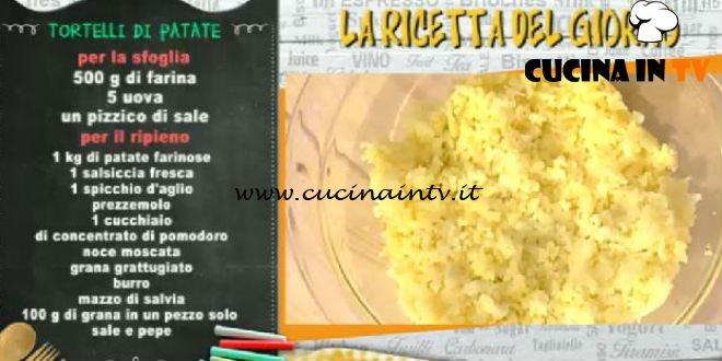 La Prova del Cuoco - Tortelli di patate ricetta Luisanna Messeri