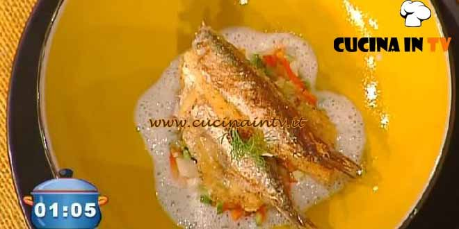 La Prova del Cuoco - Alici croccanti e guazzetto di provolone ricetta Hirohiko Shoda