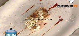 La Prova del Cuoco - Barretta di amaranto e cioccolato con mousse alle castagne ricetta Ambra Romani