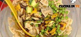 La Prova del Cuoco - Farfalle con verdure grigliate piselli e pomodorini ricetta Marco Bianchi