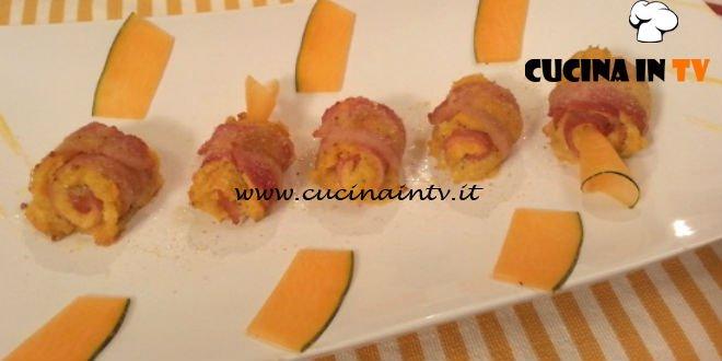 Cotto e mangiato - Involtini al bacon con ripieno di zucca ricetta Tessa Gelisio