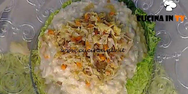 La Prova del Cuoco - Risotto verza e fontina ricetta Sergio Barzetti