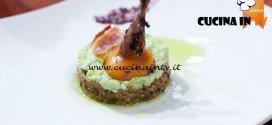 Masterchef 5 - ricetta Coscia di quaglia tuorlata di Jacopo