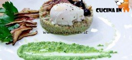 Masterchef 5 - ricetta Insalata di farro al pesto con quaglia glassata e uovo in camicia di Erica