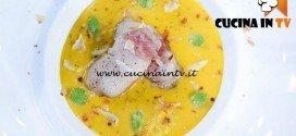 Masterchef 5 - ricetta Lardo di storione con contrasto di rafano di Andrea