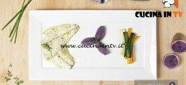 Masterchef 5 - ricetta Orata al forno con verdure e quenelle di patate viola di Alice