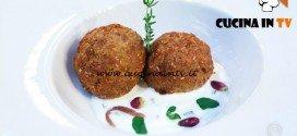 Masterchef 5 - ricetta Polpette di cicerchie e agnello ripieni di erbe con salsa di yogurt di Maradona