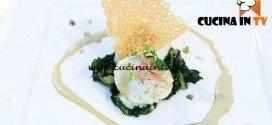 Masterchef 5 - ricetta Raviolo di san pietro ripieno di agnello con pesto di yogurt e pistacchi di Dario