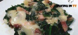 Cotto e mangiato - Spinacini con formaggio e pancetta ricetta Tessa Gelisio