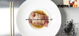 Masterchef 5 - ricetta Tonno al kogi su kinpira con prugna fermentata di Kotaro Noda