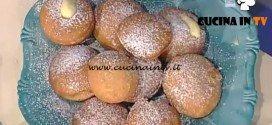La Prova del Cuoco - Bomboloni alla crema ricetta Anna Moroni