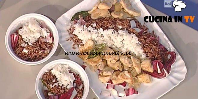 La Prova del Cuoco - Emincé di tacchino con succo di mela e mandorle con riso rosso ricetta Sergio Barzetti