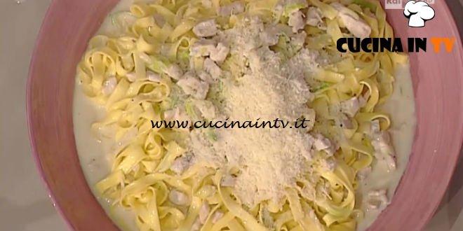 La Prova del Cuoco - Fettuccine cremose con pollo porro e vodka ricetta Natalia Cattelani