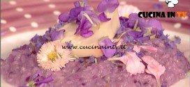 La Prova del Cuoco - Risotto al cappuccio viola taleggio e bonarda ricetta Sergio Barzetti