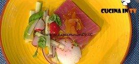 La Prova del Cuoco - Tataki di tonno affumicato con uovo e bottarga ricetta Hirohiko Shoda