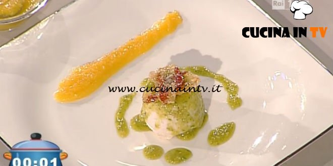 La Prova del Cuoco - Timballo di pollo e cicoria con pesto di noci e albicocche allo zenzero ricetta Gilberto Rossi