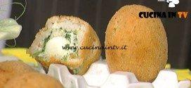 La Prova del Cuoco - Arancini con ricotta spinaci e uova di quaglia ricetta Sergio Barzetti
