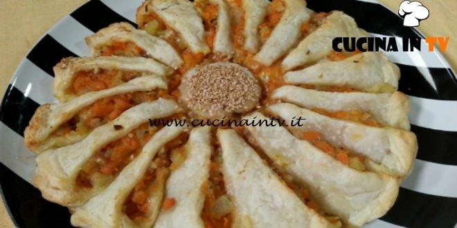 Cotto e mangiato - Girasole con zucca gorgonzola e noci ricetta Tessa Gelisio
