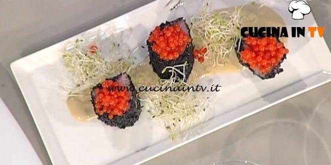 Sushi piemontese ricetta Montersino La Prova del Cuoco