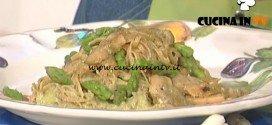 La Prova del Cuoco - Tagliatelle alla crema di asparagi e porcini ricetta Marco Bianchi