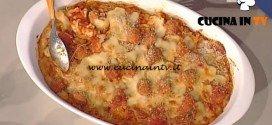 La Prova del Cuoco - Timballo di gramigna con polpettine rosse ricetta Anna Moroni