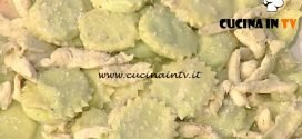 La Prova del Cuoco - Marubini di piselli e robiola con petto di pollo croccante al sesamo ricetta Daniele Persegani