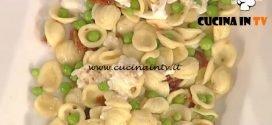 La Prova del Cuoco - Orecchiette con piselli pomodorini secchi mozzarella e pecorino ricetta Natalia Cattelani
