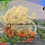 La Prova del Cuoco - Tartare di gamberi con pasta fritta ricetta Gilberto Rossi
