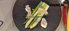 La Prova del Cuoco - Asparagi crudi e cotti arachidi e quinoa ricetta Anthony Genovese