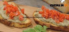 La Cuoca Bendata - ricetta Bruschette con caviale di melanzane di Benedetta Parodi