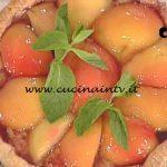 La Prova del Cuoco - Crostata di pesche al Sangiovese ricetta Riccardo Facchini