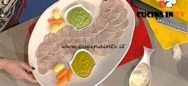La Prova del Cuoco - Fettine fredde con salsa di rucola ricetta Luisanna Messeri