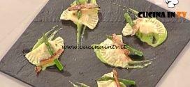 La Prova del Cuoco - Mezzelune con guanciale e pecorino su vellutata di asparagi ricetta Gilberto Rossi
