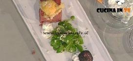 La Prova del Cuoco - Tartare di manzo con stracciatella e uovo fritto ricetta Markus Holzer