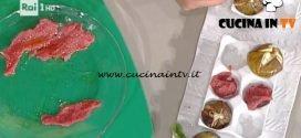 La Prova del Cuoco - Carpaccio di manzo con fichi caramellati ricetta Hirohiko Shoda