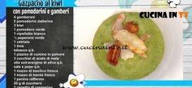 La Prova del Cuoco - Gazpacho ai kiwi con pomodorini e gamberi ricetta Roberto Balduzzi