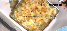 La Prova del Cuoco - Lasagne di crespelle verdi con zucca e toma ricetta Sergio Barzetti