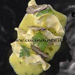 La Prova del Cuoco - Ravioli di porcini al vapore con zabaione al tartufo ricetta Martin Vitaloni