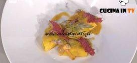 La Prova del Cuoco - Raviolo aperto con triglie e funghi ricetta Gianfranco Pascucci